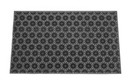 Коврик резиновый 58х36.5см Цветы  К-17