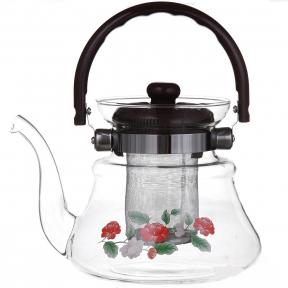 Чайник из жаропрочного стекла 0.8л 1041