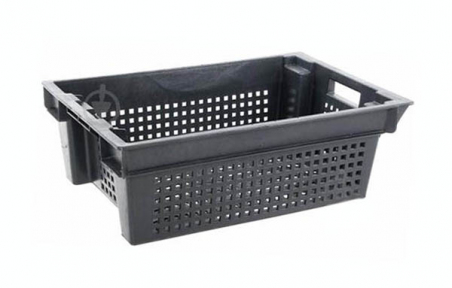 Ящик пластмассовый 600х400х200мм чёрный