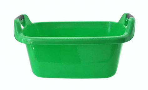 Таз пластмассовый 35л овальный зелёный