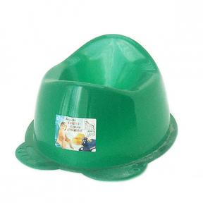 Горшок детский пластмассовый  Панда  зелёный