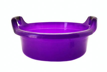 Таз пластмассовый 30л круглый с ручками фиолетовый