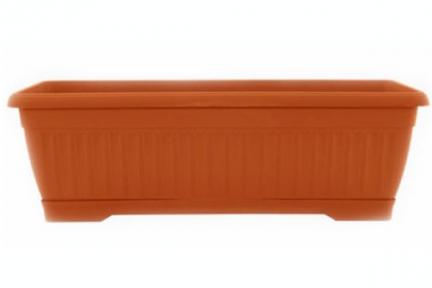 Цветочный горшок Терра 9л 500х190ммт балконный терракотовый