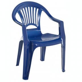 Стул пластмассовый Луч синий