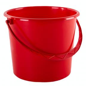 Ведро пластмассовое 8.0л красное