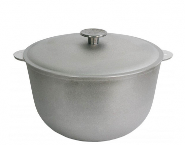 Казан алюминиевый литой 7.0л К0700 с крышкой