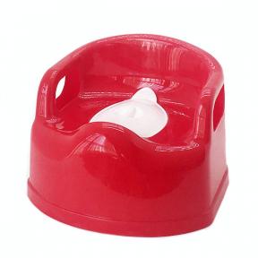 Горшок детский пластмассовый Люкс красный