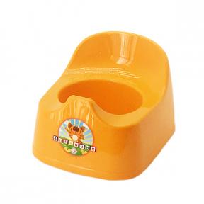 Горшок детский пластмассовый  Малятко  оранжевый