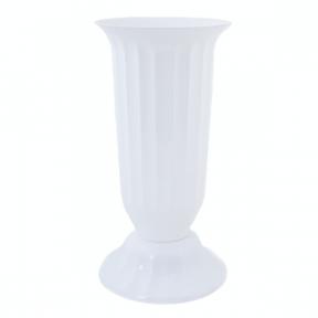 Цветочный горшок Флора 3.7л  380мм белый
