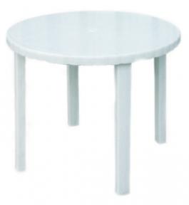 Стол пластмассовый 880мм круглый белый