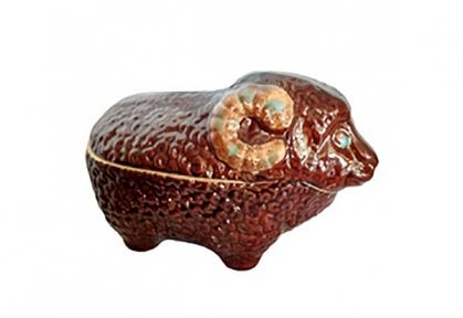 Горшок глиняный  Баран цветной