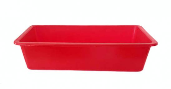 Корыто пластмассовое 55л красное