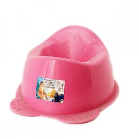 Горшок детский пластмассовый  Панда  розовый