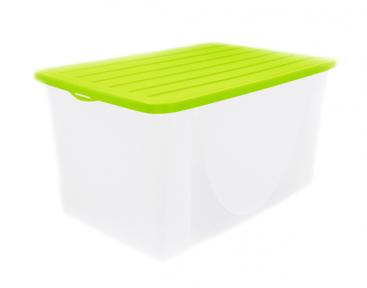 Емкость для хранения вещей пластмассовая 22л с крышкой