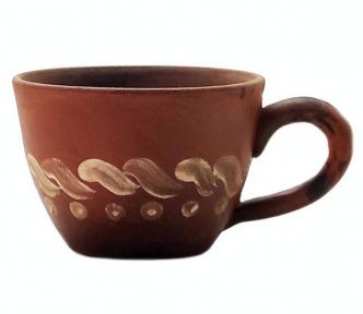 Чашка для капучино с красной глины
