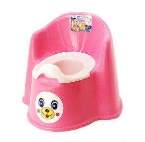 Горшок детский пластмассовый Кресло розовый