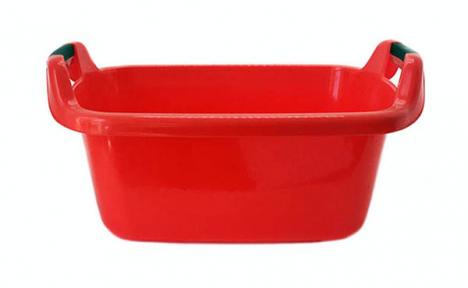 Таз пластмассовый 45л овальный красный