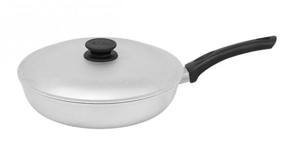 Сковорода алюминиевая литая с гладким дном 240 мм А243
