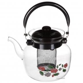 Чайник из жаропрочного стекла 1.2л 1045