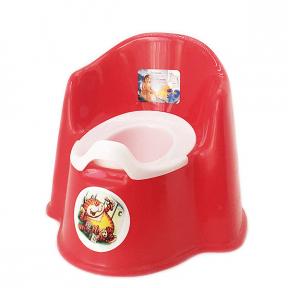 Горшок детский пластмассовый Кресло красный
