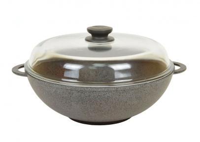 Сковорода Wok алюминиевая литая 280мм 28034ПС Гранит-Грей