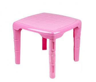 Стол детский пластмассовый 560х560мм квадратный розовый
