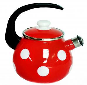 Чайник эмалированный 2.5л 2711/4 Белый горох