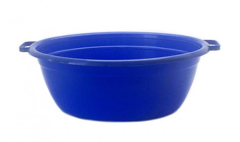 Таз пластмассовый 25л овальный синий