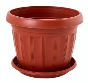 Цветочный горшок Терра 0.55л 120x90мм терракотовый