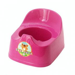 Горшок детский пластмассовый  Малятко  тёмно-розовый
