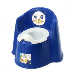 Горшок детский пластмассовый Кресло синий