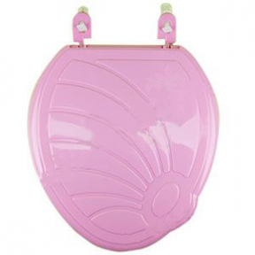 Сиденье унитаза пластмассовое розовое