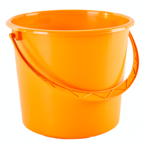 Ведро пластмассовое 14л оранжевое