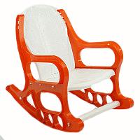 Кресло-качалка детское пластмассовое оранжевое