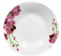 Тарелка керамическая №8  04 Орхидея
