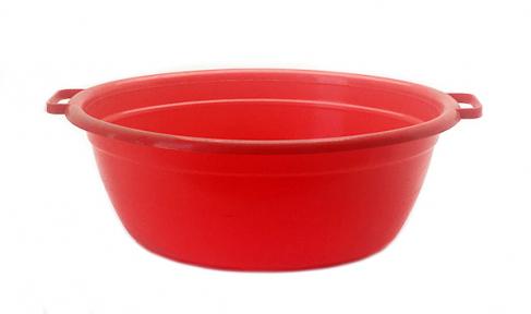 Таз пластмассовый 25л овальный красный