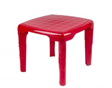 Стол детский пластмассовый 560х560мм квадратный красный