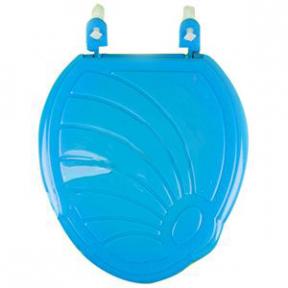 Сиденье унитаза пластмассовое голубое