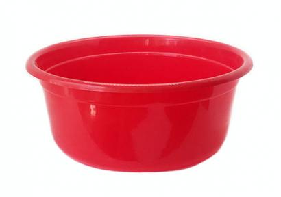 Таз пластмассовый 50л круглый красный
