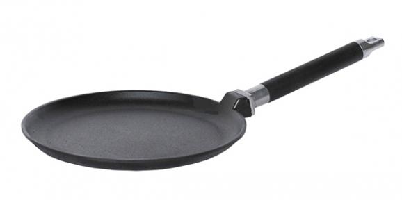 Сковорода блинная чугунная литая 220мм 04221