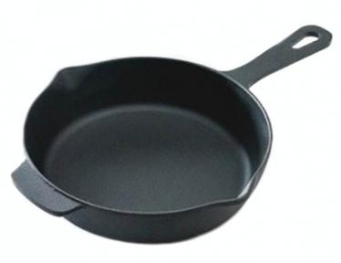 Сковорода чугунная 260х60мм с металлической ручкой С2601