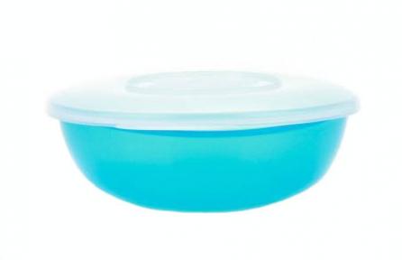 Салатница пластмассовая 1.35л  Ромашка  с крышкой